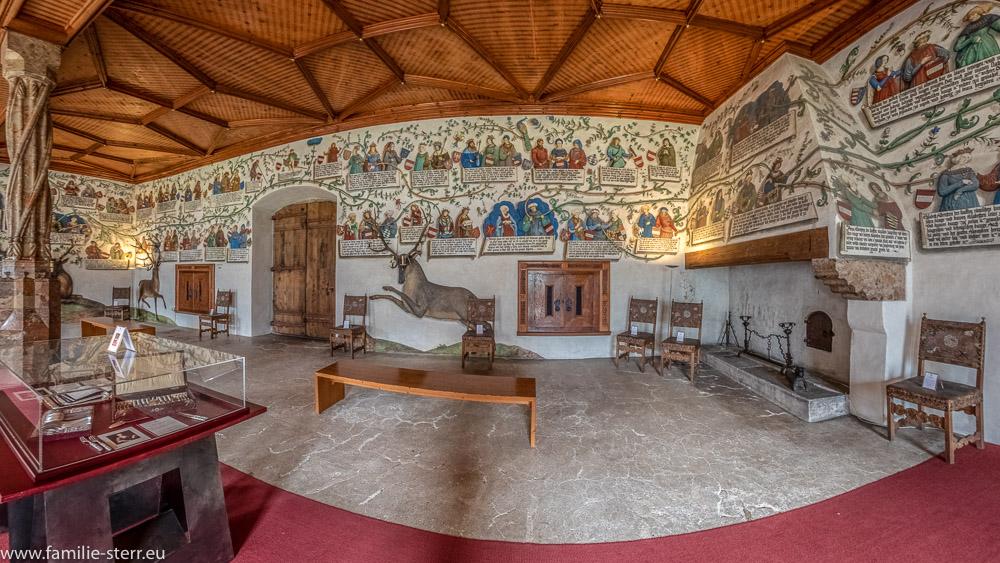 Habsburger - Saal im Schloss Tratzberg