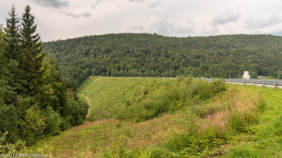 Damm der Trinkwassertalsperre Frauenau