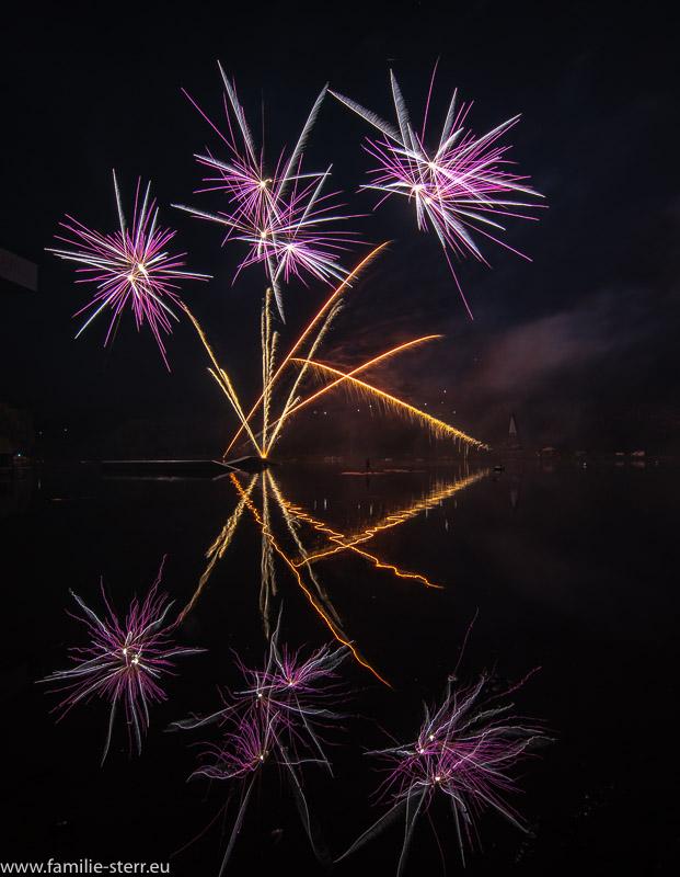 Feuerwerk imPark Sommerfest 2018 / Olympiapark München