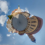 Der Marktplatz in Amberg mit dem Rathaus und der Basilika St. Martin als Little Planet
