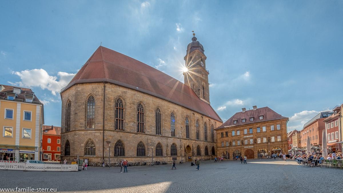 Basilika St. Martin in Amber in der Oberpfalz im strahlenden Sonnenschein