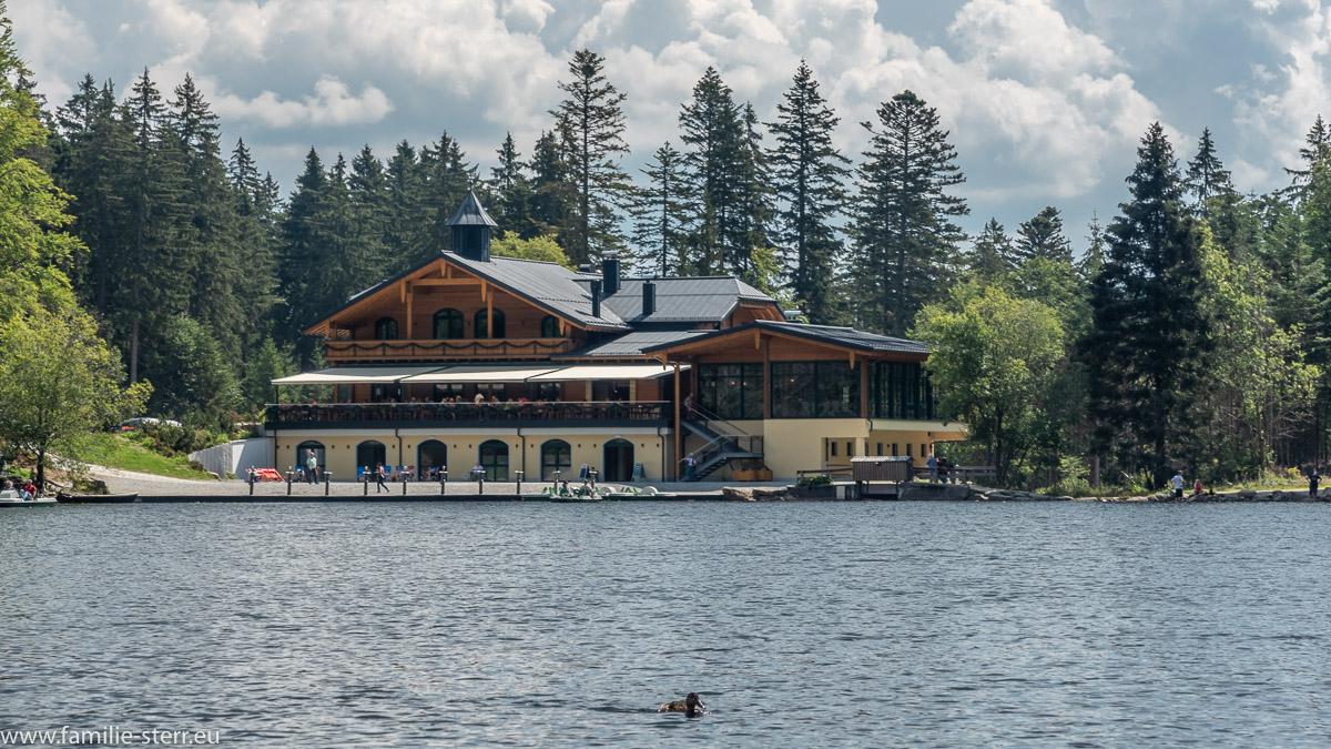 das Restaurant und Strandhaus am großen Arbersee