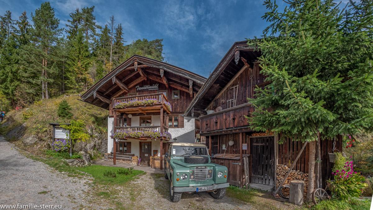 das kleine Dorfbad Tannermühl in Bayrischzell