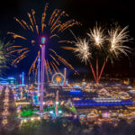 ein Feuerwerk am Oktoberfest in München (leider nur ein Traum)