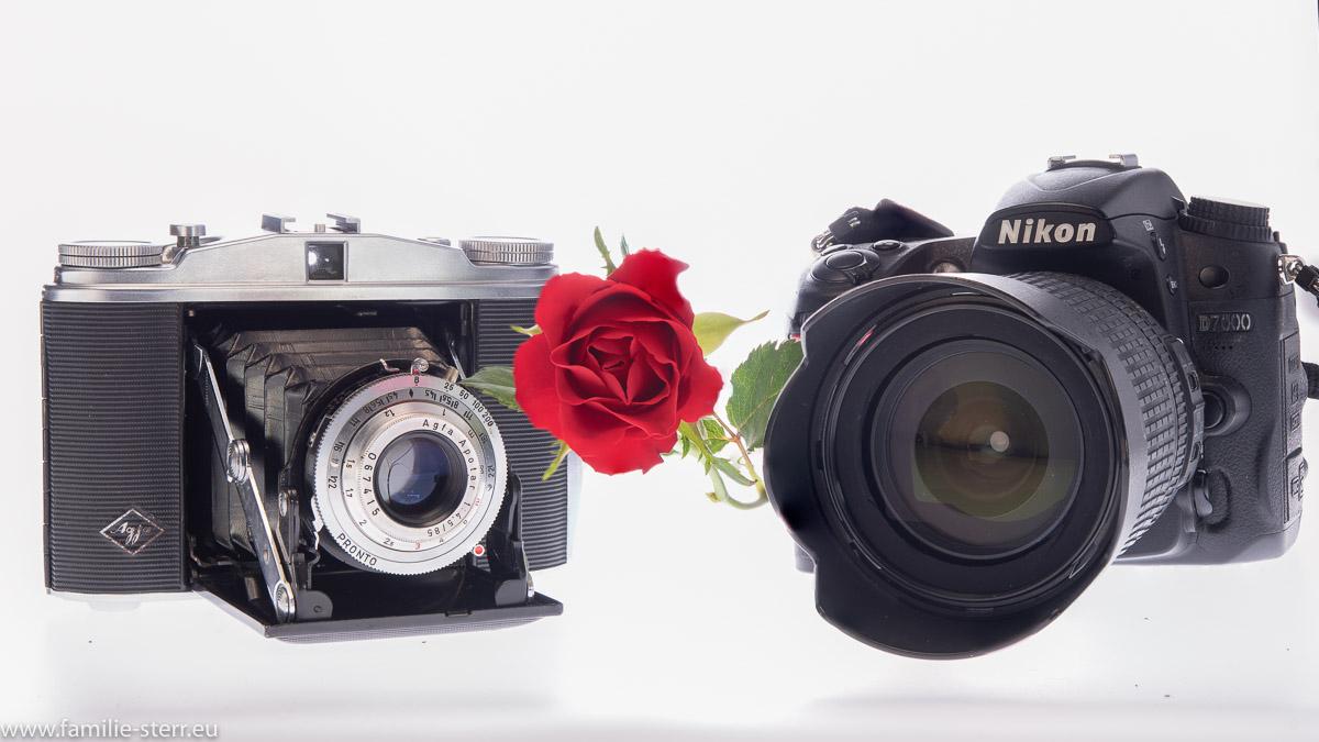 Agfa Isolette und Nikon D7000
