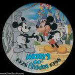 ein alter Pin aus Disney World zum 60. Geburtstag von Mickey Mouse