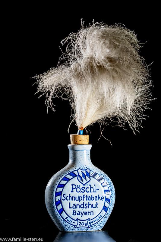 Schnupftabakflsche mit Pinsel - Pöschl - Schmaler - Hinteransicht