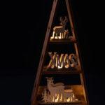 beleuchteter Pyramiden - Adventskalender
