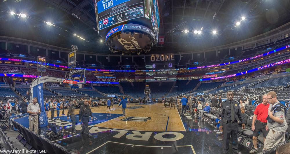 Blick in die Amway - Arena in Orlando vor dem Heimspiel gegen Orlando Magic