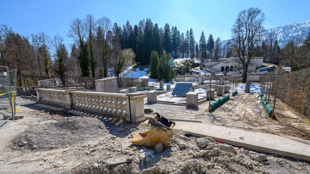 Baustelle-Schloss Linderhof