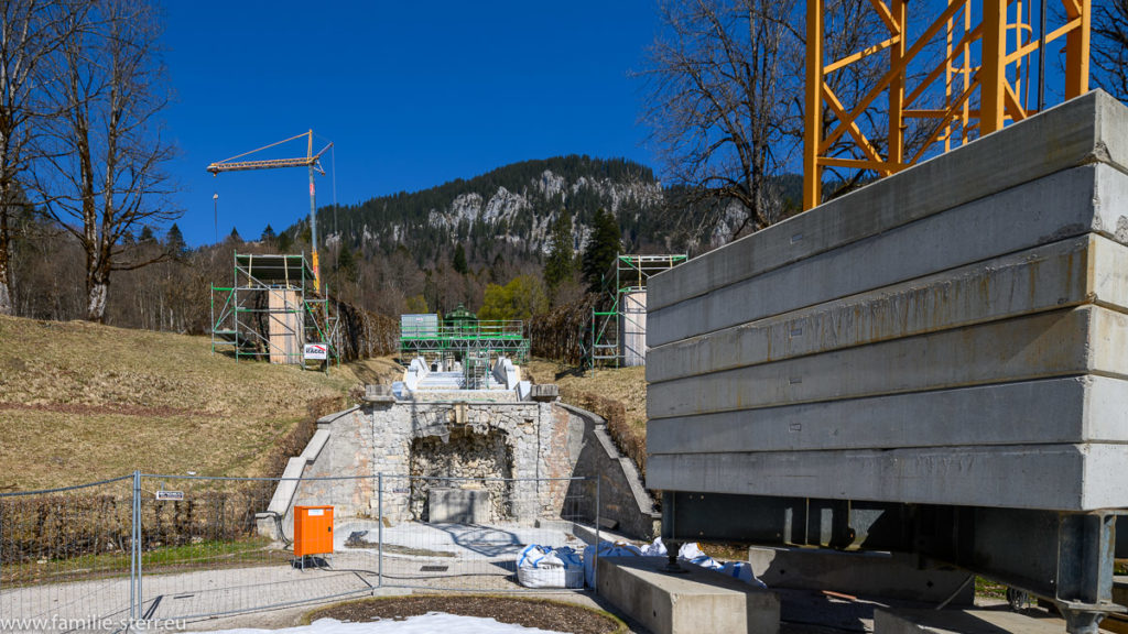 Baustelle Schloss Linderhof