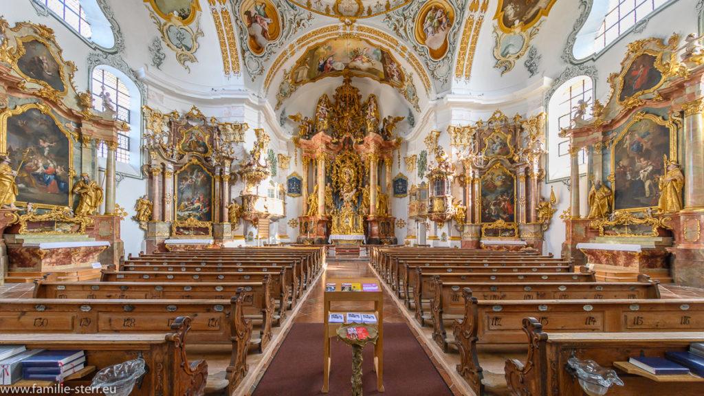 Innenraum Kirche Maria Königin des Rosenkranzes / Marienberg bei Burghausen