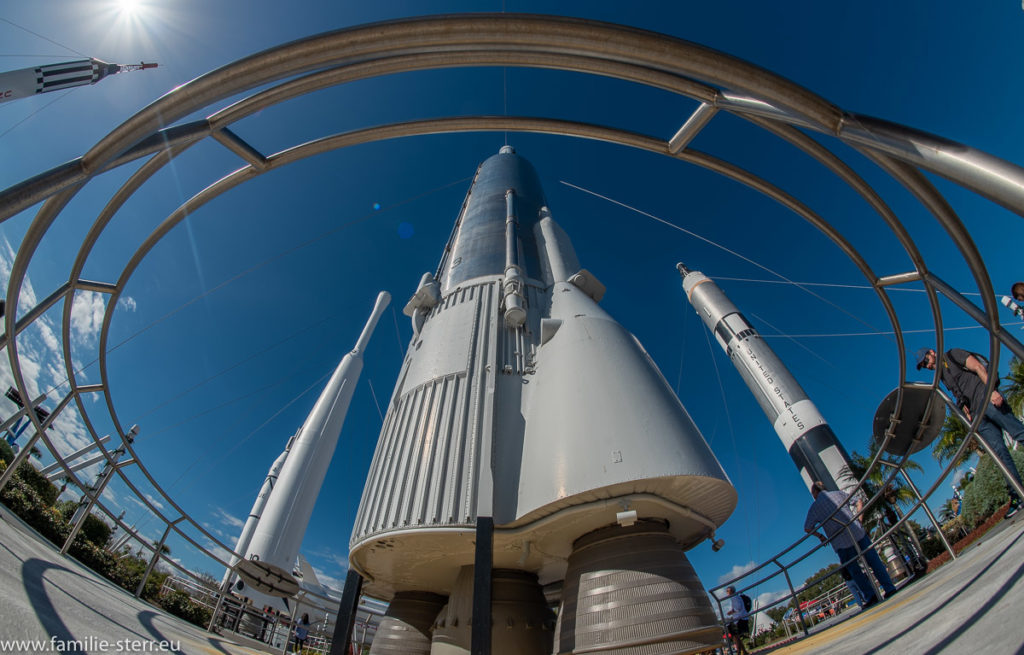 Raketenmodell im Rocket Garden / NASA Visitor Complex, Cape Canaveral