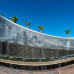 Kennedy - Fountain am Nasa Visitor Center in Cape Canaveral