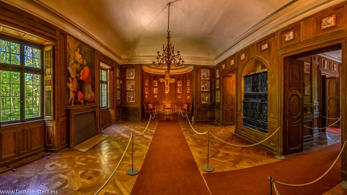 Das Appartement des Kurfürsten in der Magdalenenklause im Schlosspark Nymphenburg