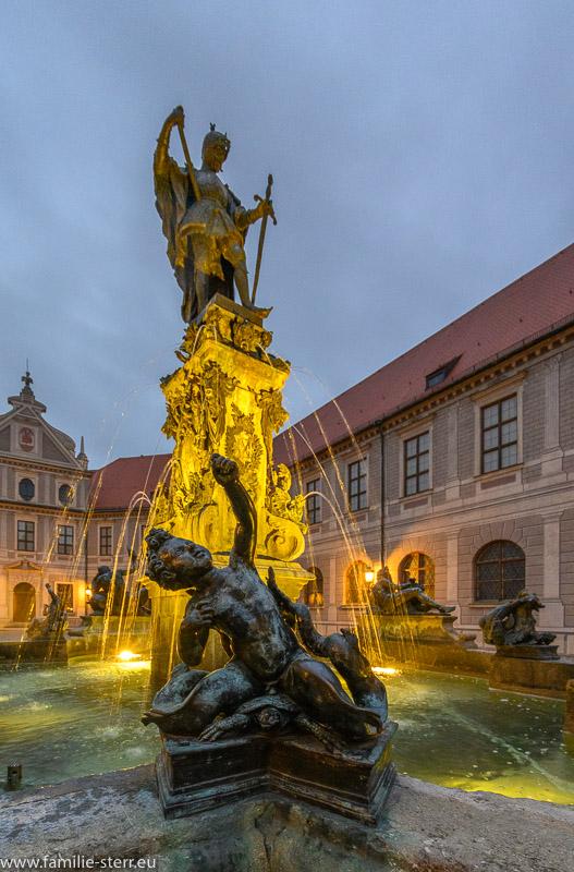 Brunnen von Otto I. - Brunnenhof Residenz München