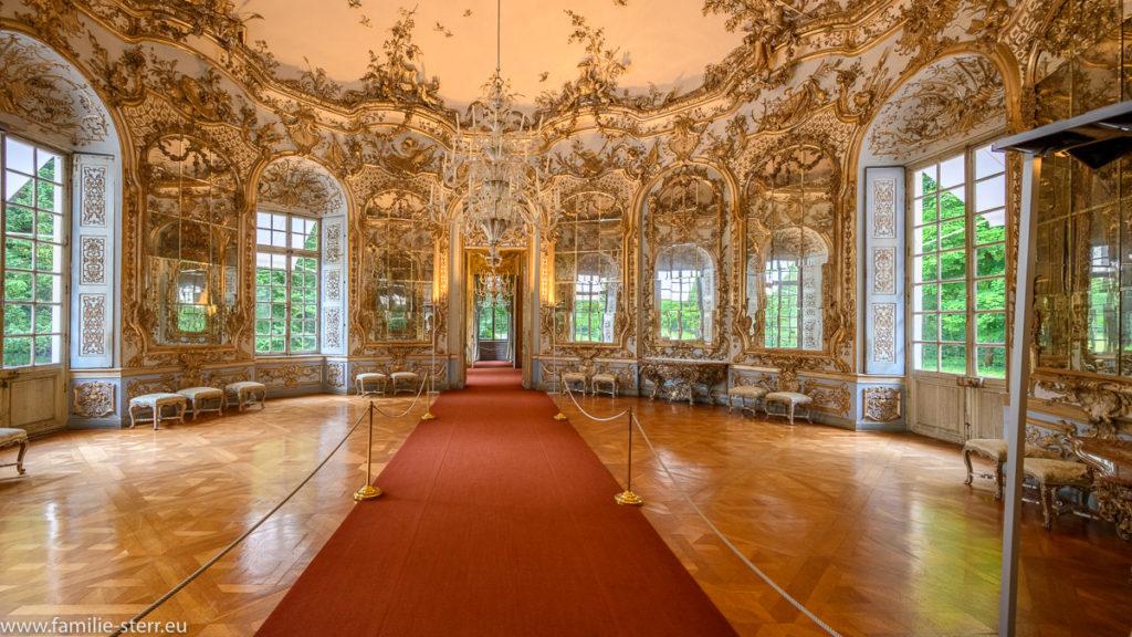 Spiegelsaal der Amalienburg im Park Schloss Nymphenburg