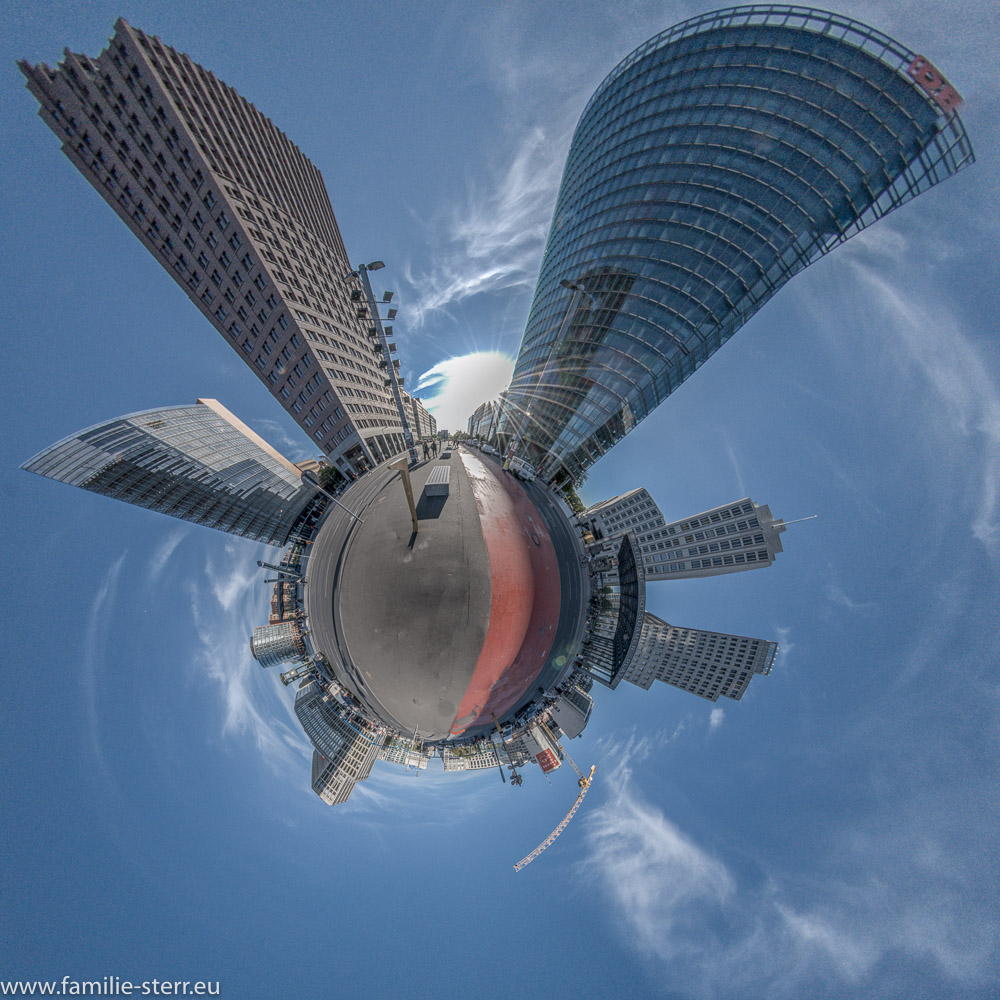 Potsdamer Platz als Little Planet