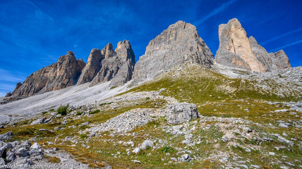 die Drei Zinnen in den Südtiroler Dolomiten