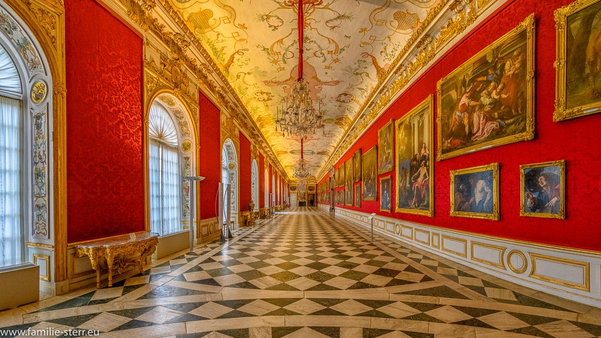 die große Galerie im Obergeschoss des Neuen Schloss Oberschleissheim
