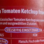 """Aufschrift auf einer Flasche """"Hela - Ketchup"""" - vielseitig einsatzbar"""