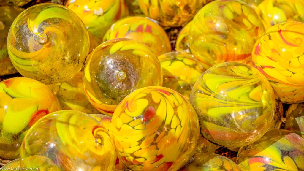 gelbe Glaskugeln - Joska Bodenmais