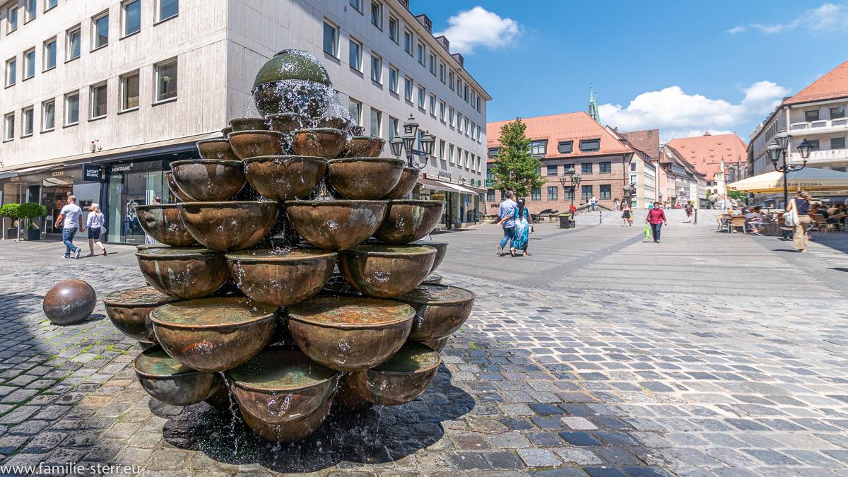 der Schalen - Kaskaden - Brunnen in Nürnberg in der Kaiserstraße