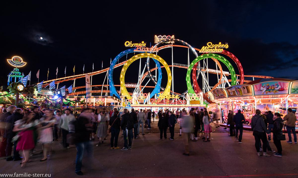 Olympia - Looping - Achterbahn auf dem Münchner Oktoberfest