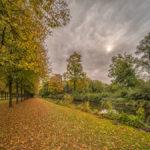 Herbststimmung im Schlosspark beim Schloss Schleissheim