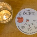 Crowdfunding Bierdeckel im Restaurant in Köln mit dem Virengeist
