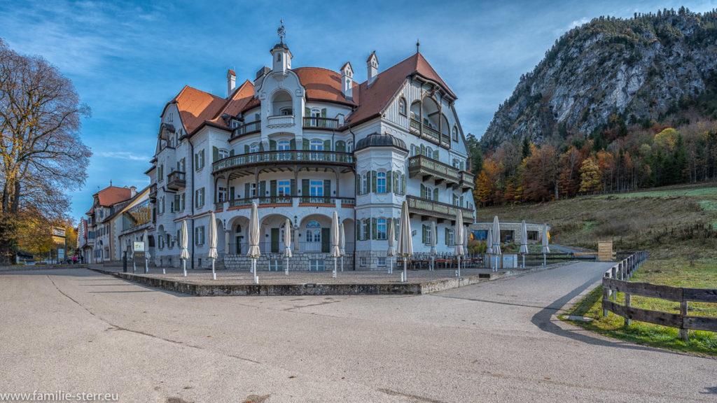 Außenansicht Hotel Ammern am Alpsee während des Lock - Downs