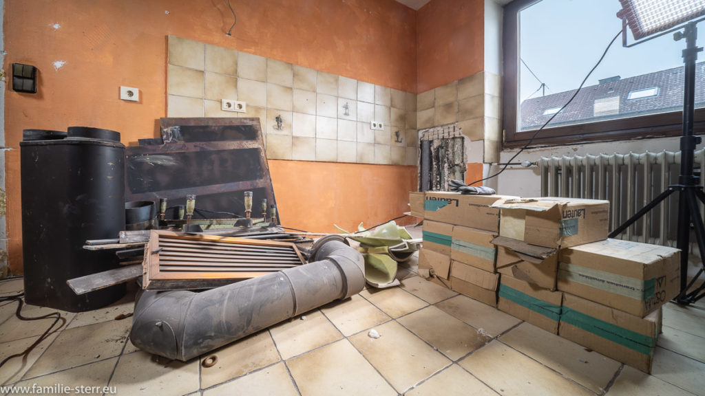 Küche als Restelager