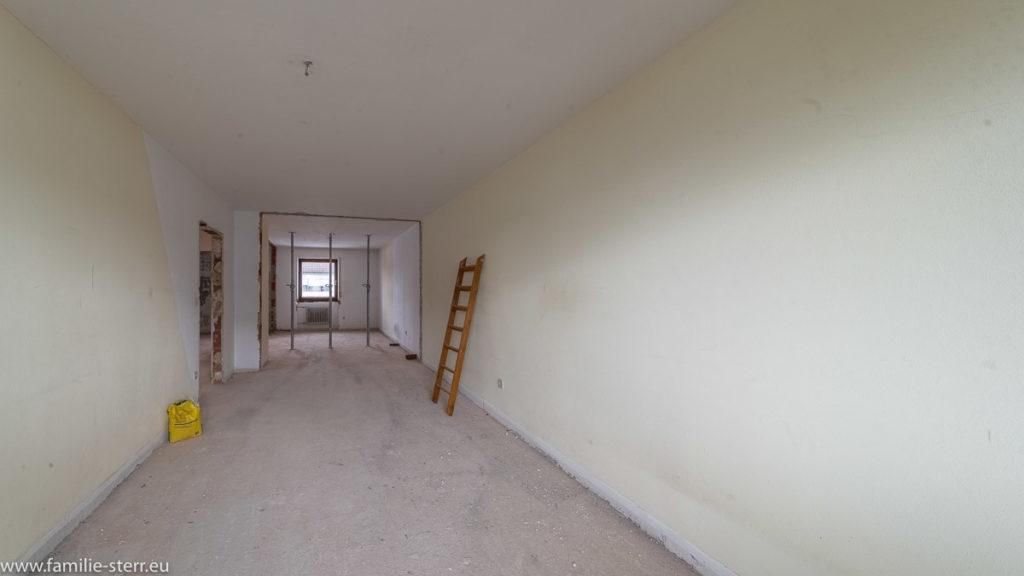 Schlafzimmer ohne Trennwand zum Arbeitszimmer