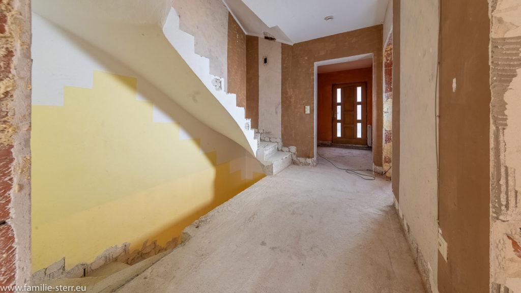 Treppenhaus ohne Treppengeländer