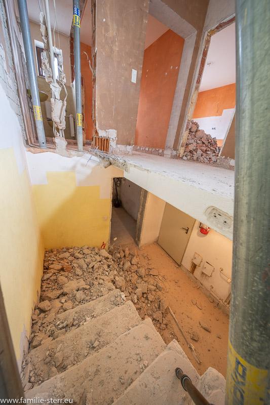 Chaos im Treppenhaus