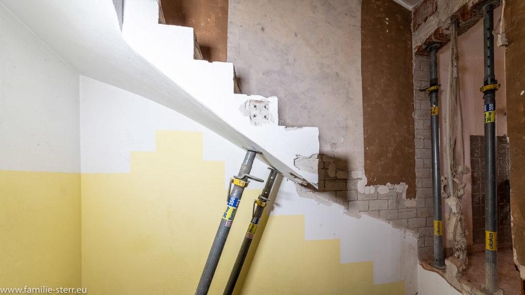 abgeschnittene Treppe