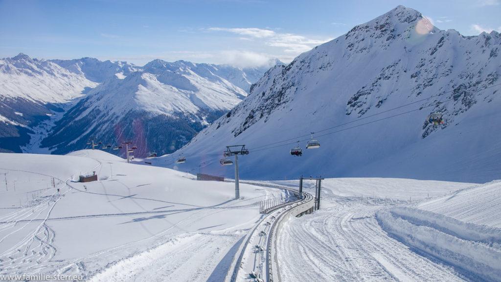 Weissfluh bei Davos im Schnee