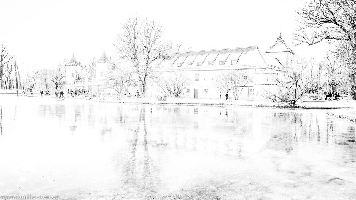skizzenhafte Abbildung von Schloss Blutenburg