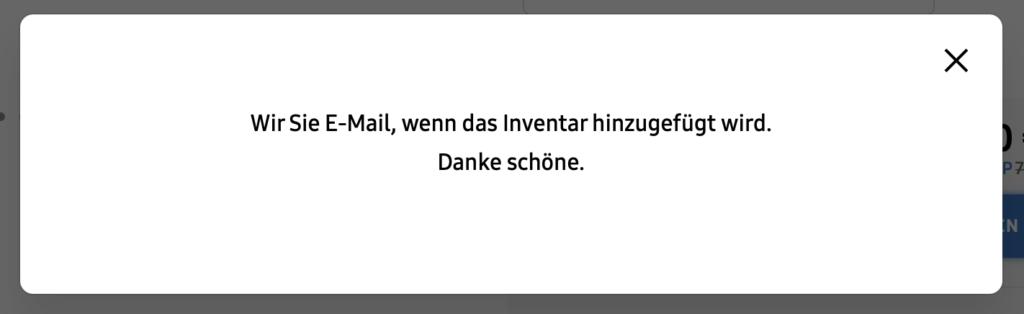 Wir Sie E-Mail - fehlerhafte Übersetzung im Samsung Online Shop