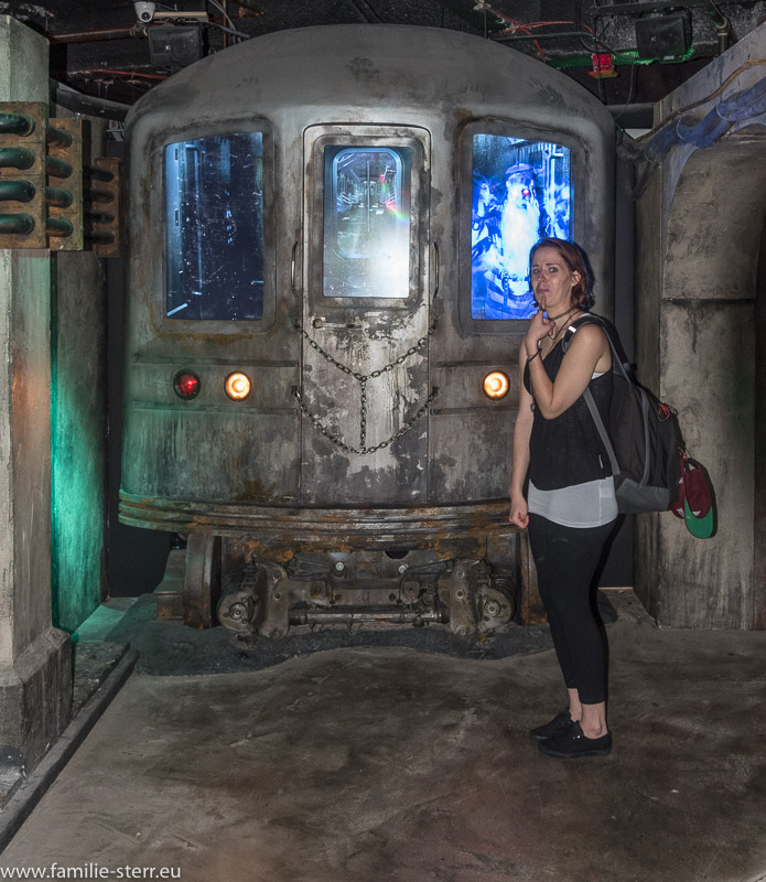 Geisterzug der New Yorker U-Bahn und Melanie bei Madam Tussauds in New York