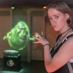 Melanie und ein Geist bei Madam Tussauds in New York