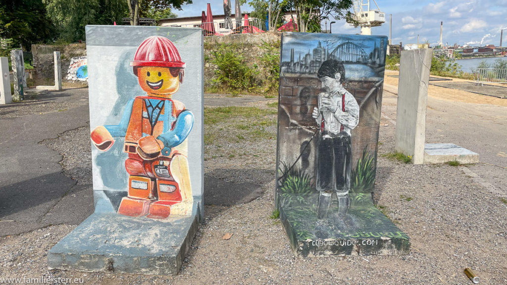 Streetart - Kunstwerke am Rhine Side Streetart Biergarten