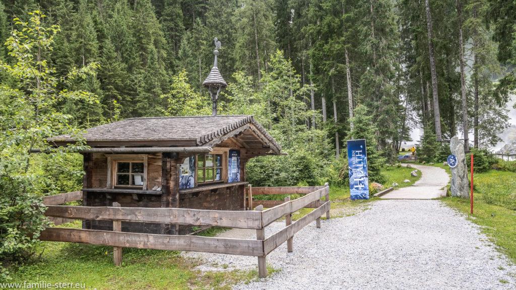 Hütte am Kraftplatz Unterer Krimmler Wasserfall